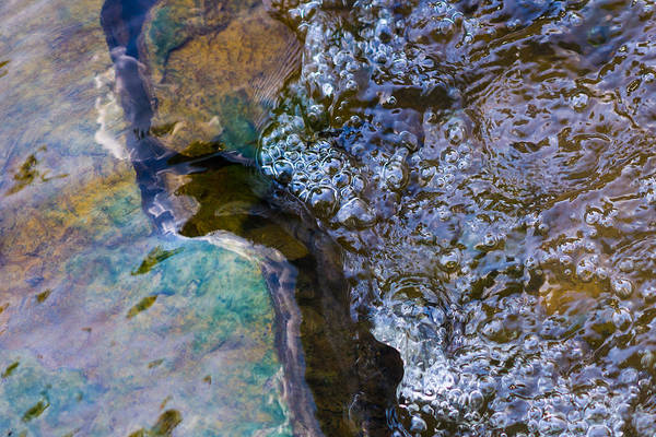 Abstract Poster featuring the photograph Purl Of A Brook 1 - Featured 3 by Alexander Senin