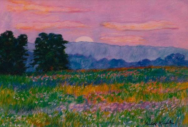 Kendall Kessler Poster featuring the painting Purple Sunset On The Blue Ridge by Kendall Kessler