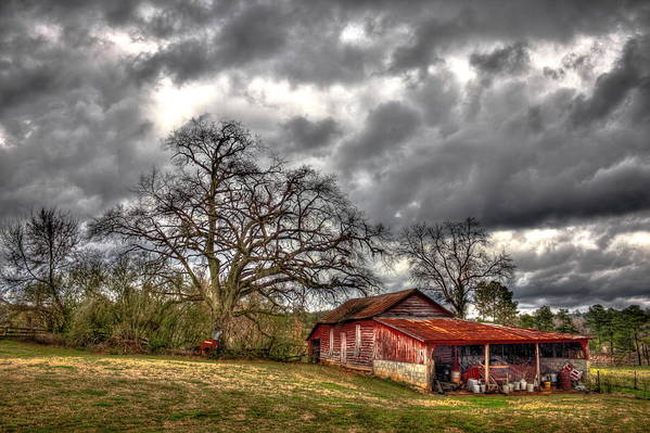 Reid Callaway Red Barn Poster featuring the photograph Red Barn On The Boswell Farm by Reid Callaway
