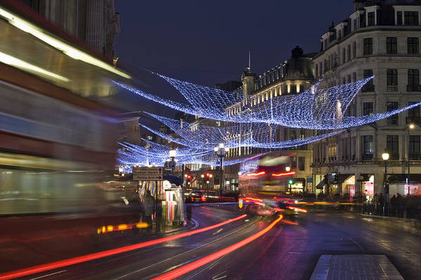 Regent Poster featuring the photograph Regent Street Lights by Matthew Gibson