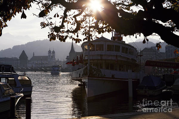 Lake Luzern Poster featuring the photograph Romantic Afternoon Scenic In Lucerne by George Oze