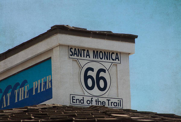 Route 66 Poster featuring the photograph Route 66 - End Of The Trail by Kim Hojnacki