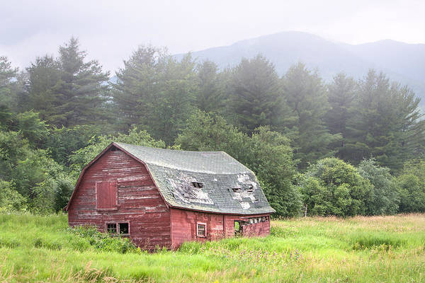 Landscape Poster featuring the photograph Rustic Landscape - Red Barn - Old Barn And Mountains by Gary Heller