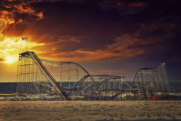Seaside Heights Poster featuring the photograph Seaside Coaster by Kim Zier