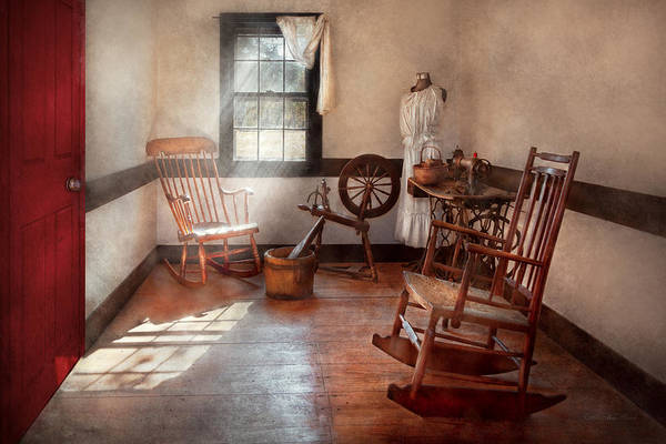 Savad Poster featuring the photograph Sewing - Room - Grandma's Sewing Room by Mike Savad