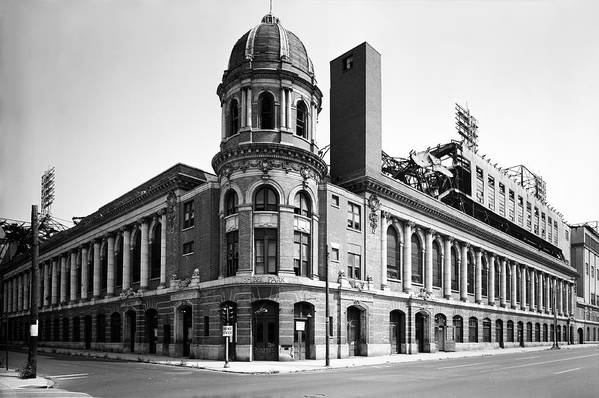 Shibe Park In Black And White Poster featuring the photograph Shibe Park In Black And White by Bill Cannon