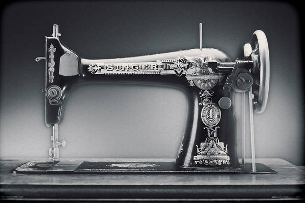 Singer Sewing Machine Poster featuring the photograph Singer Machine by Kelley King