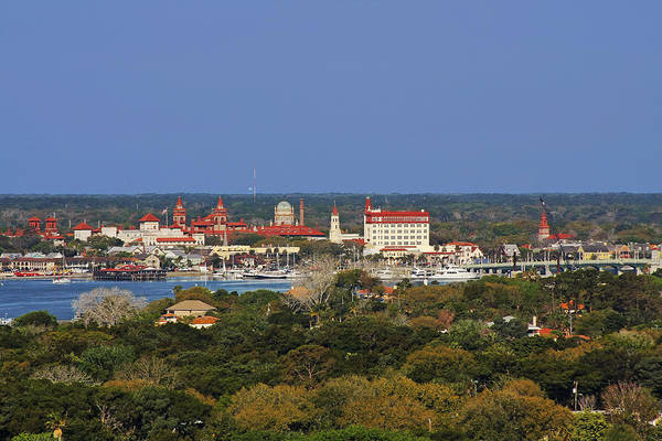 St Poster featuring the photograph Skyline Of St Augustine Florida by Christine Till