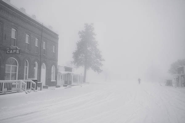 Snow Poster featuring the photograph Snowy Ghost Town by Darren White
