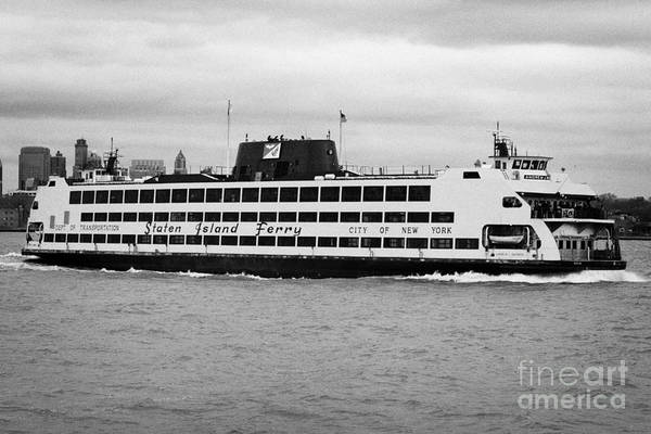 Usa Poster featuring the photograph staten island ferry Andrew J Barberi new york usa by Joe Fox