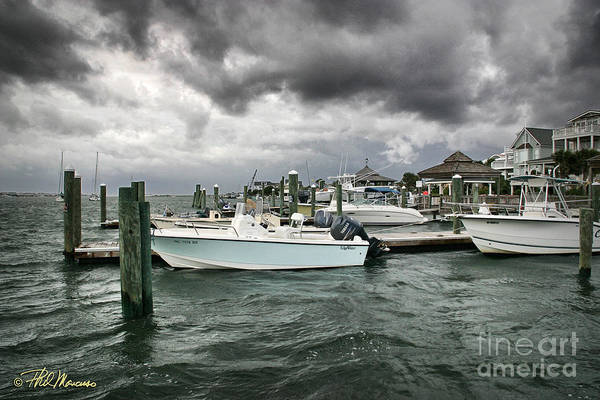 Nautical Poster featuring the photograph Storm Over Banks Channel by Phil Mancuso