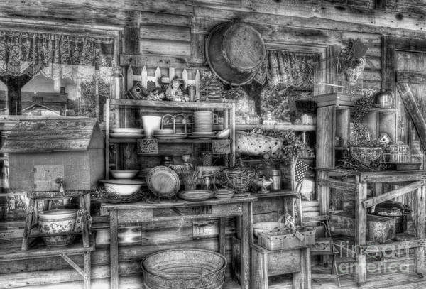 Stuff For Sale Poster featuring the photograph Stuff For Sale Bw by Mel Steinhauer