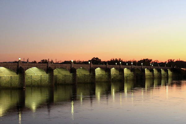 Bridge Poster featuring the photograph Sunset Hues by Deborah Crew-Johnson