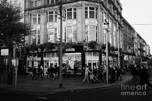 Supermacs Poster featuring the photograph Supermacs Fast Food Restaurant Oconnell Street Dublin Republic Of Ireland by Joe Fox