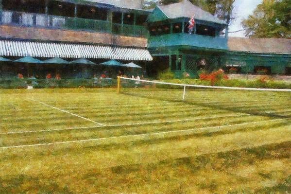 Tennis Court Poster featuring the photograph Tennis Hall Of Fame - Newport Rhode Island by Michelle Calkins