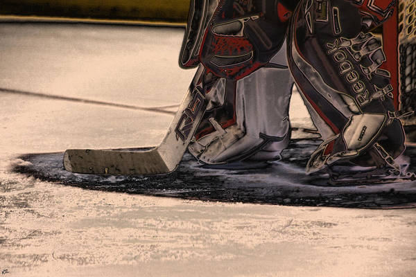 Hockey Poster featuring the photograph The Goalies Crease by Karol Livote