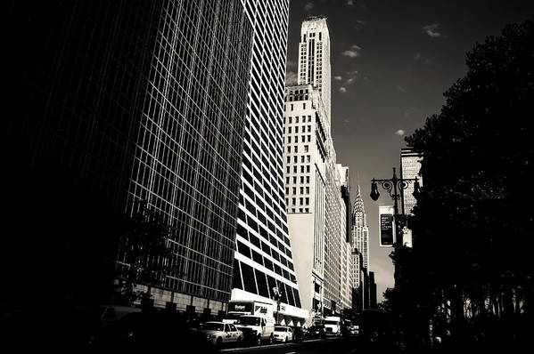 New York City Poster featuring the photograph The Grace Building And The Chrysler Building - New York City by Vivienne Gucwa
