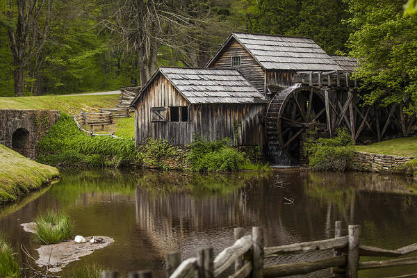 Landscapes Poster featuring the photograph The Old Mill After The Rain by Amber Kresge
