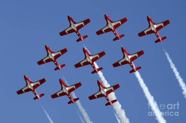 Snowbirds Poster featuring the photograph The Snowbirds Keeping It Tight by Bob Christopher