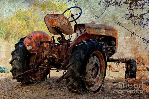 Tractor Poster featuring the photograph Time To Sleep by Clare Bevan