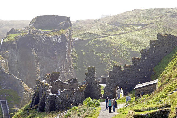 Camelot Poster featuring the photograph Tintagel Castle by Rod Jones