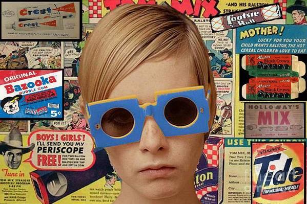 Twiggy Poster featuring the digital art Twiggy Pop by Chandler Douglas