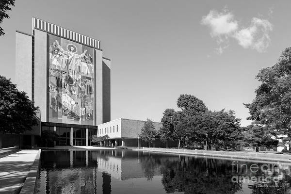 Big East Conference Poster featuring the photograph University Of Notre Dame Hesburgh Library by University Icons
