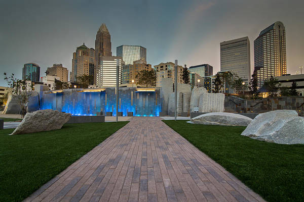 Park Poster featuring the photograph Uptown Charlotte by Serge Skiba