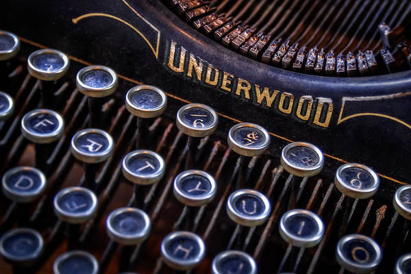 Retro Poster featuring the photograph Vintage Typewriter 2 by Scott Norris