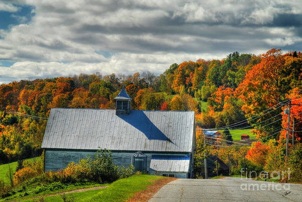 Maine Scenic Photography Poster featuring the photograph Western Maine Barn by Alana Ranney