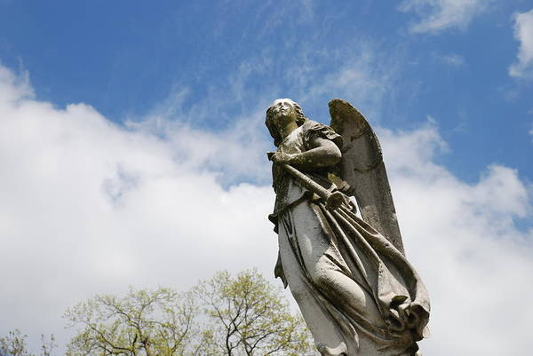 Cemetery Poster featuring the photograph Winged Angel by Jennifer Ancker