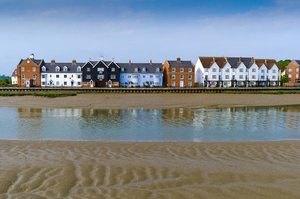 Wivenhoe Poster featuring the photograph Wivenhoe Waterfront by Gary Eason