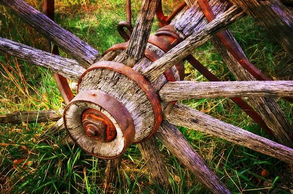 Wagon Wheel Poster featuring the photograph Yesterday's Wheel by Marty Koch