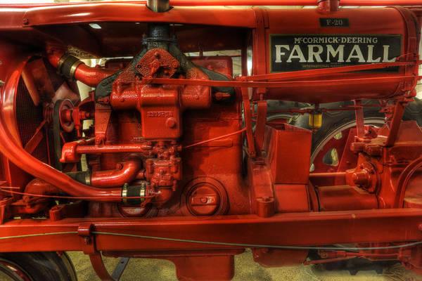 Lee Dos Santos Poster featuring the photograph Mccormick Tractor - Farm Equipment - Nostalgia - Vintage by Lee Dos Santos