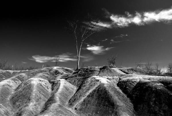 Black And White Poster featuring the photograph Cheltenham Badlands by Cale Best