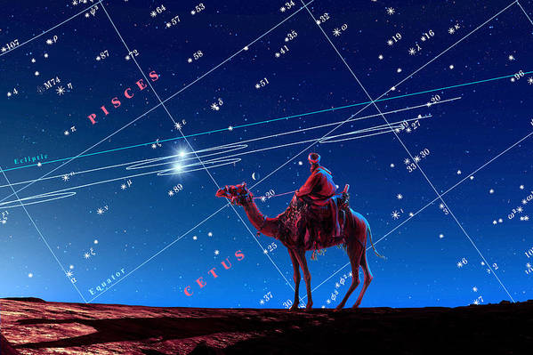 Saturn Poster featuring the photograph Christmas Star As Planetary Conjunction by Detlev Van Ravenswaay