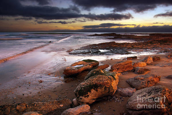 Background Poster featuring the photograph Coastline At Twilight by Carlos Caetano