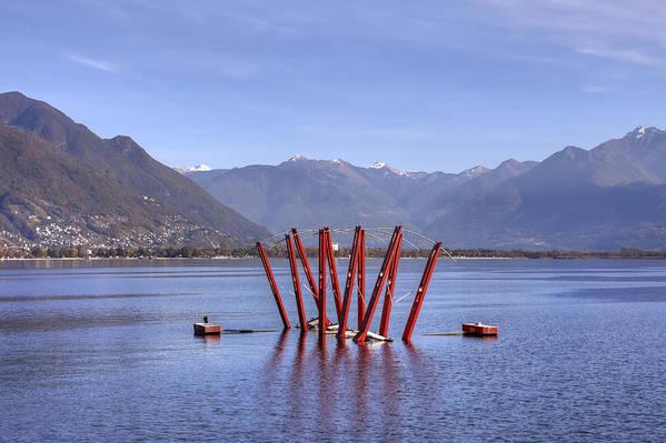 Locarno Poster featuring the photograph Lake Maggiore Locarno by Joana Kruse