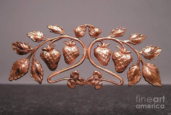 Strawberries Poster featuring the jewelry Stampings 29 by Dwight Goss