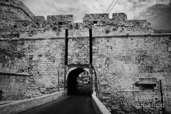 Famagusta Poster featuring the photograph The Porta Di Limisso The Old Land Gate In The Old City Walls Famagusta Turkish Republic Cyprus by Joe Fox