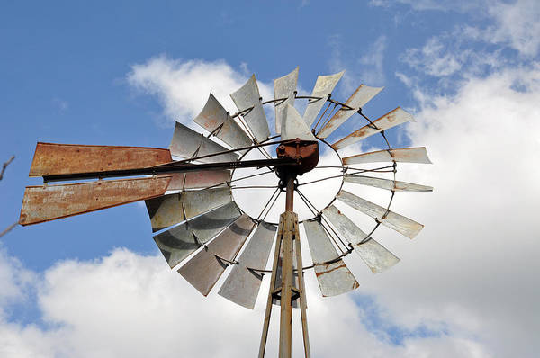 Teresa Blanton Poster featuring the photograph Windmill by Teresa Blanton