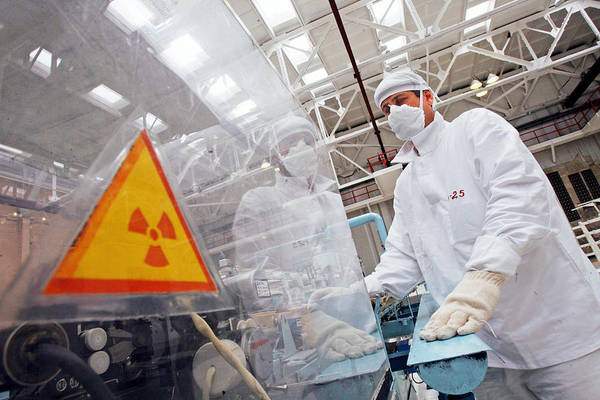 Equipment Poster featuring the photograph Nuclear Fuel Assembly, Russia by Ria Novosti