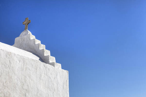 Paraportiani Poster featuring the photograph Mykonos by Joana Kruse
