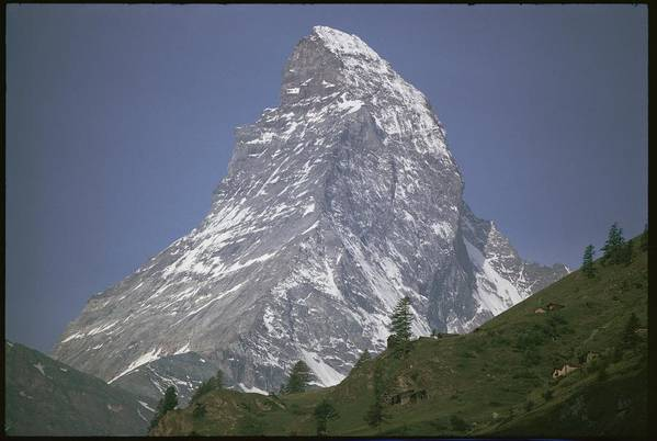 The Matterhorn Poster featuring the photograph Untitled by Walter Meayers Edwards
