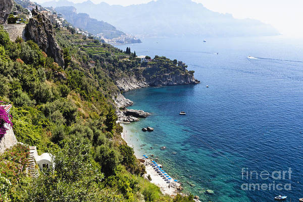 Sorrentine Peninsula Poster featuring the photograph Amalfi Coast At Conca Dei Marini by George Oze