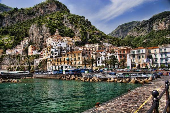 Amalfi Poster featuring the photograph Amalfi by David Smith