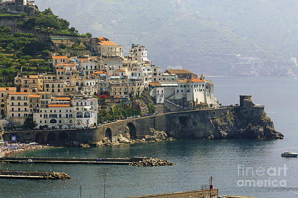 Horizontal Poster featuring the photograph Amalfi Daytime Scenic by George Oze