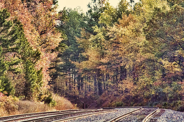 Autumn Poster featuring the photograph Autumn Railroad by Douglas Barnard