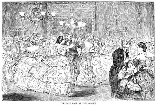 1858 Poster featuring the photograph Ball, 1858 by Granger