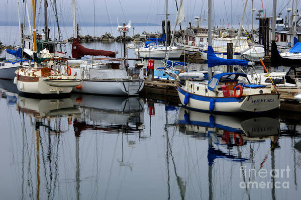 Fishing Boats Poster featuring the photograph Beauty Of Boats by Bob Christopher